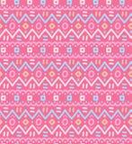 L'ornamentale indigeno decorativo del tessuto etnico ha barrato il modello senza cuciture Fotografie Stock