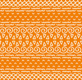 L'ornamentale indigeno decorativo del tessuto etnico ha barrato il modello senza cuciture nel vettore Fondo senza fine di colore Fotografia Stock