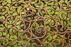 L'ornamento di metallo ha placcato lo stile floreale e vittoriano d'annata Fotografie Stock