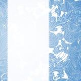 Fondo blu dell'ornamento floreale dell'annata Fotografie Stock Libere da Diritti