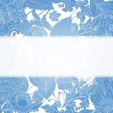 Fondo blu dell'ornamento floreale dell'annata Fotografia Stock