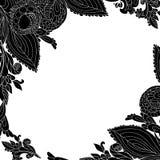 Fondo nero dell'ornamento floreale dell'annata Immagini Stock Libere da Diritti