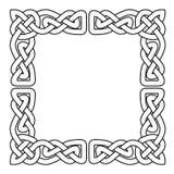 L'ornamento senza cuciture nazionale celtico ha intrecciato il nastro - struttura Fotografia Stock
