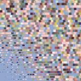 L'ornement coloré par appartement avec la rétro image tramée a dénommé des rectangles illustration stock