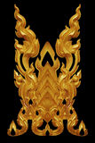 L'ornement de l'or a plaqué le vintage floral, style thaïlandais d'art photo stock