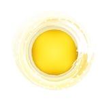 L'oro celebra il logo Fotografie Stock Libere da Diritti