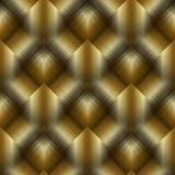 L'oro 3d barrato ha piastrellato il modello senza cuciture del rombo Vettore 3d dorato Fotografia Stock