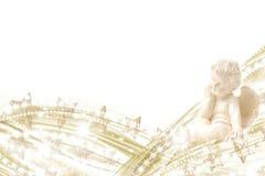 L'oro di angelo stars la priorità bassa Immagini Stock
