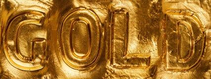 L'oro di parola Fotografia Stock