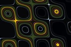 L'oro fluido scintillante astratto allinea il fondo, la struttura, progettazione creativa vaga ipnotico Immagini Stock