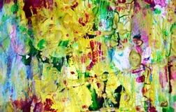 L'oro ha offuscato i punti pastelli allegri, forme, tonalità del pastello dell'estratto Fotografia Stock