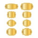 L'oro incornicia lo stile dorato Fotografia Stock