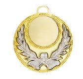 L'oro mette in mostra la medaglia Fotografie Stock