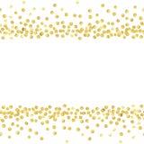 L'oro punteggia la linea Fotografia Stock