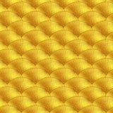 L'oro riporta in scala il modello Vector il reticolo senza giunte Fotografia Stock