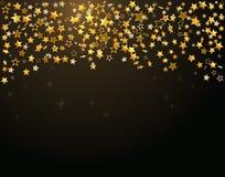 L'oro stars la priorità bassa di festa royalty illustrazione gratis
