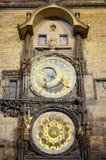 l'orologio astronomico di Praga Fotografia Stock Libera da Diritti