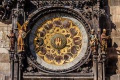 L'orologio astronomico di Praga, o orloj di Praga Fotografia Stock Libera da Diritti