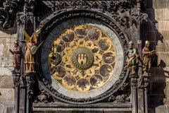 L'orologio astronomico di Praga, o orloj di Praga Immagine Stock