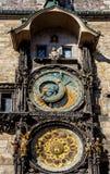 L'orologio astronomico di Praga, o orloj di Praga Fotografie Stock