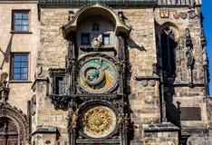 L'orologio astronomico di Praga, o orloj di Praga Immagine Stock Libera da Diritti