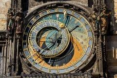 L'orologio astronomico di Praga, o orloj di Praga Immagini Stock Libere da Diritti