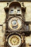 L'orologio astronomico a Praga Fotografia Stock