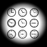 L'orologio compone eps10 Illustrazione di Stock