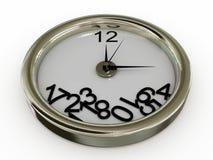 L'orologio con i numeri è caduto Immagine Stock Libera da Diritti