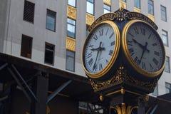 L'orologio davanti alla torre di Trump Fotografia Stock