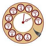 L'orologio del telefono Immagine Stock