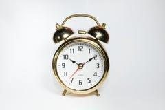 L'orologio del vecchio oro (10:10AM) Fotografia Stock