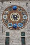 L'orologio di giubileo sulla torre di Zimmer, Lier, Belgio Immagini Stock