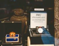 L'orologio di lusso del IWC nella finestra di un deposito dentro Baden-ha offerto Fotografie Stock