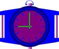 L'orologio di parete orizzontale illustrazione vettoriale