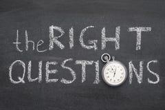 L'orologio giusto di domande immagine stock libera da diritti
