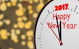 L'orologio rappresenta il nuovo anno venente 2017 Immagini Stock Libere da Diritti