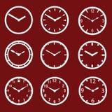 L'orologio rosso compone eps10 Illustrazione di Stock