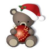 L'orsacchiotto è pronto per il Natale Fotografie Stock Libere da Diritti