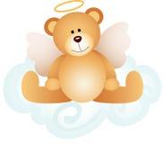L'orsacchiotto di angelo riguarda la nuvola illustrazione di stock