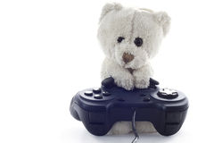 L'orsacchiotto riguarda la priorità bassa neutra Immagini Stock Libere da Diritti