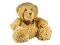 L'orsacchiotto riguarda una priorità bassa bianca Immagine Stock Libera da Diritti