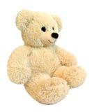 L'orsacchiotto sveglio riguarda il fondo bianco Immagini Stock