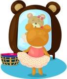 L'orso del fumetto si agghinda illustrazione di stock