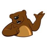 L'orso mostra il gesto che tutto è benissimo royalty illustrazione gratis