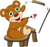 L'orso stava dipingendo royalty illustrazione gratis