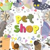 L'ortografia originale del negozio di animali di frase Immagini Stock
