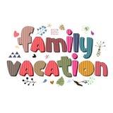 L'ortografia originale della vacanza di famiglia di frase Immagini Stock Libere da Diritti