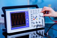 Oscilloscope images stock