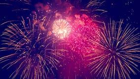 L'oscurità sta illuminare con i fuochi d'artificio archivi video